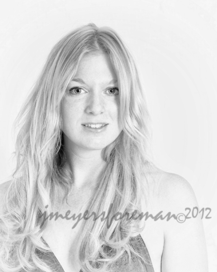 Jillian: high-key black and white portrait