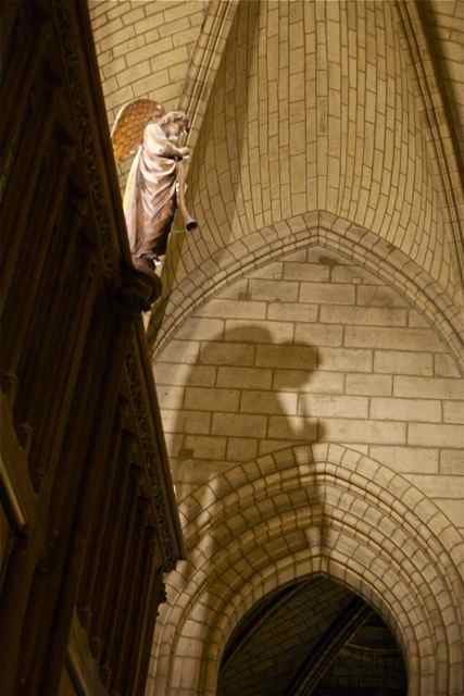 Notre Dame_Paris France_Angel and Shadow