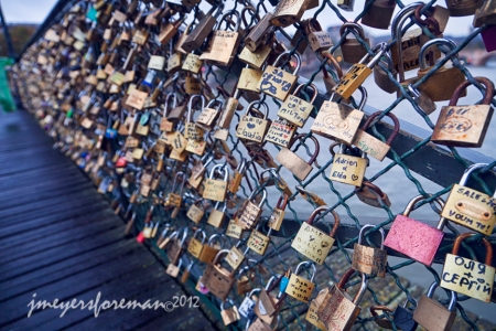Love Locks, Pont de Arts, Paris France