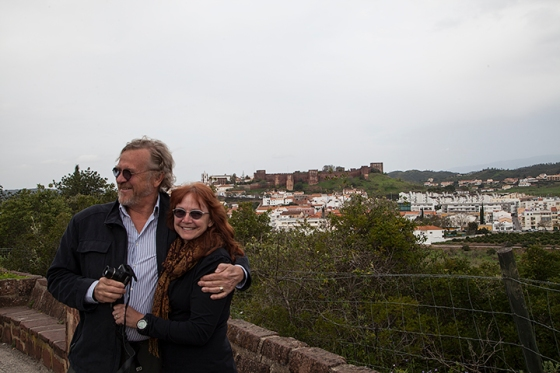 visiting the castle at Silves Portugal