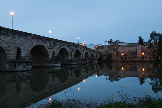 Roman Bridge over the River Guadiana. Merida Sapin