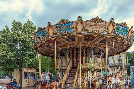 Double Decker Carousel in Bordeaux France, copyright jmeyersforeman