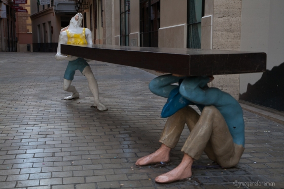 Public Art; sitting around the streets of Malaga; copyright jmeyersforeman 2015